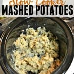 These slow cooker mashed potatoes are a must have for Thanksgiving. They are super creamy and delish. No more using 2 or 3 items to boil, drain and mix. Now all you need is the slow cooker!
