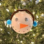 You can't get easier than this super cute snowman ornament craft. It is perfect for the kids to help with.