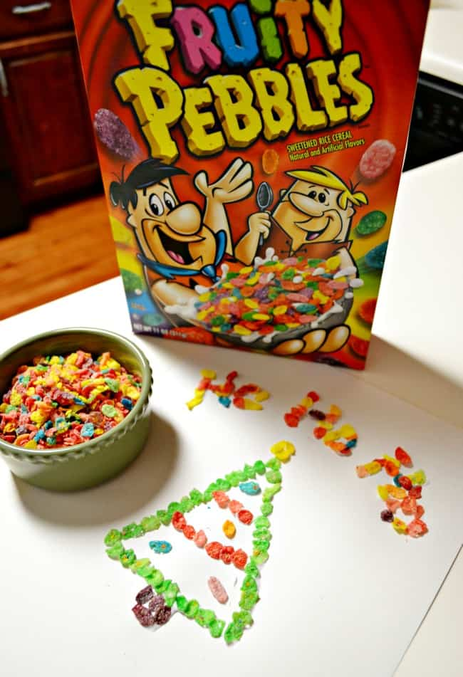 Don't just eat your cereal, play with it. Have fun creating cereal art with your kids. A great activity for keeping them occupied and have snack time too.