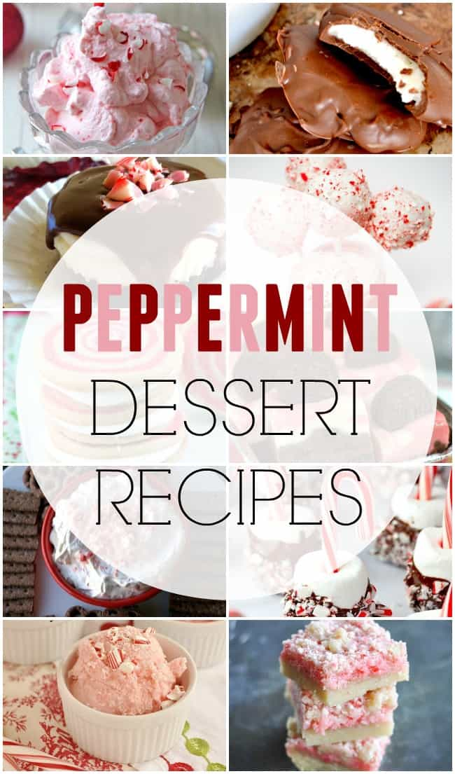 Enjoy this round up of 20+ peppermint dessert recipes. These are great for holidays and adds a delicious festive twist to dessert recipes.