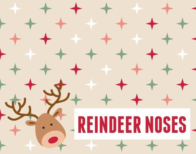This reindeer noses classroom treat idea is simple to make and perfect for any class from young to older.