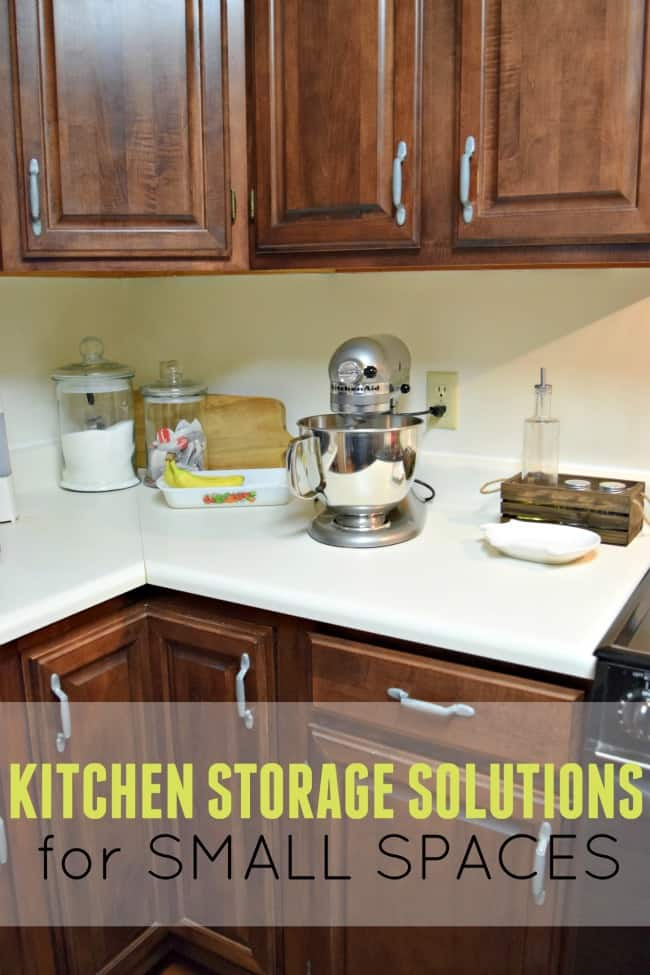 Simple kitchen storage solutions for small spaces. You don't need tons of room to have a functional kitchen.