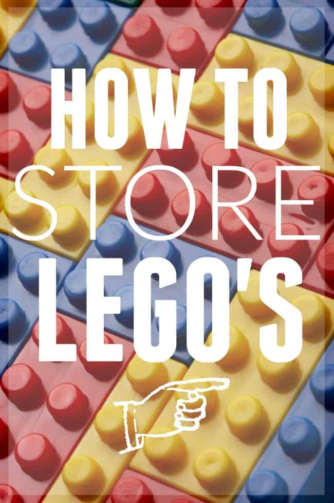 How to store Legos in your home!