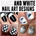 The Black White nail designs are classic yet so edgy at the same time. Love these designs!