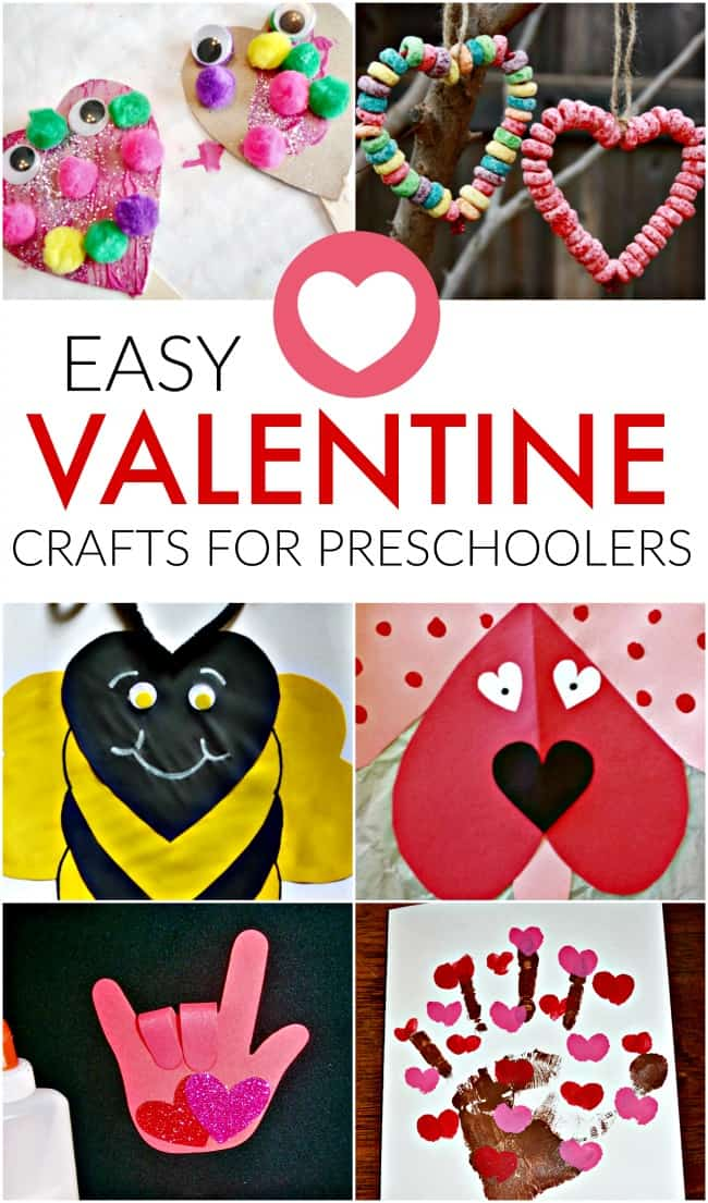 Easy valentines crafts for preschoolers for Valentines crafts for kindergarten