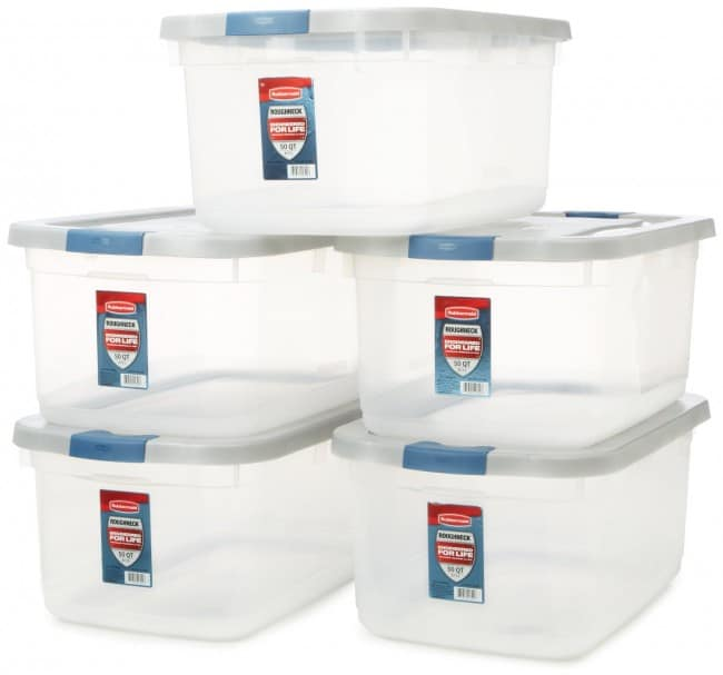 large plastic bins