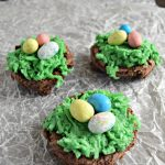 These Easter Coconut Brownie Nests are so cute. They would be perfect for a Easter get together with the family. These would also be cute for a classroom treat.