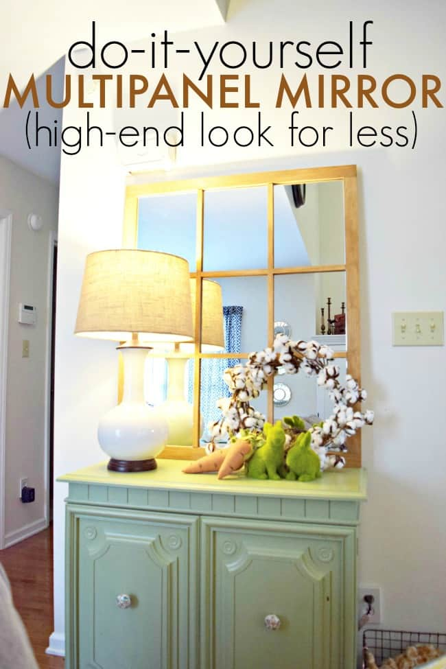 How to create your own high end diy multipanel mirror for way less.