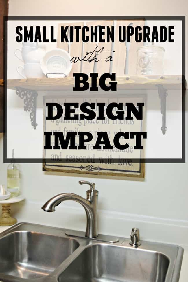 You can make a difference with this small kitchen upgrade that makes a big design impact. A great way to upgrade your kitchen on a budget.