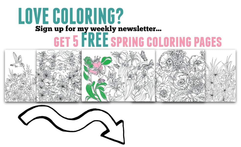 5 Spring Adult Coloring Printables