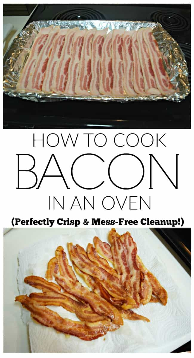 If you have ever wondered how to cook bacon in an oven then check out this perfect bacon recipe. Made easily in the oven for a quick no mess clean up. Best way to cook a bunch for the whole crowd.