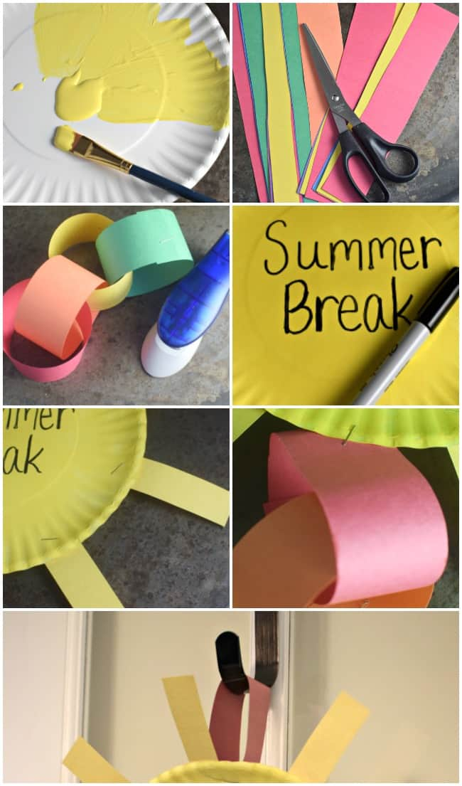 This Summer Break Countdown Chain displays the remaining days until summer break!! An easy craft for kids to get your summer countdown on today!