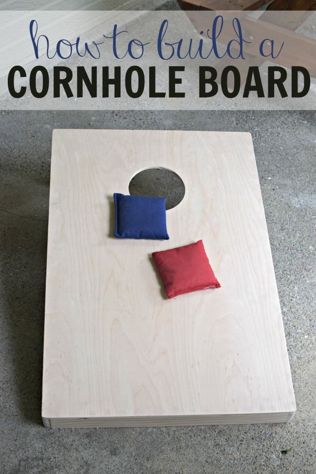 Learn how to build a cornhole board set with full instructions. This set will last you for summers to come.
