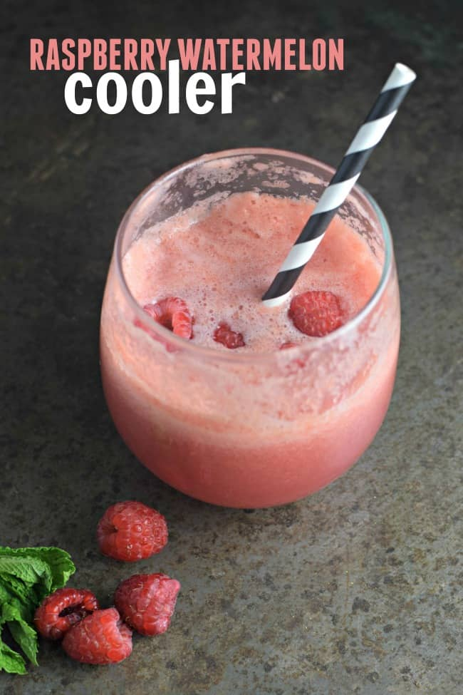 Stay cool this summer with this tasty and refreshing Raspberry Watermelon Cooler. The perfect drink to make during a casual get together with friends and family.