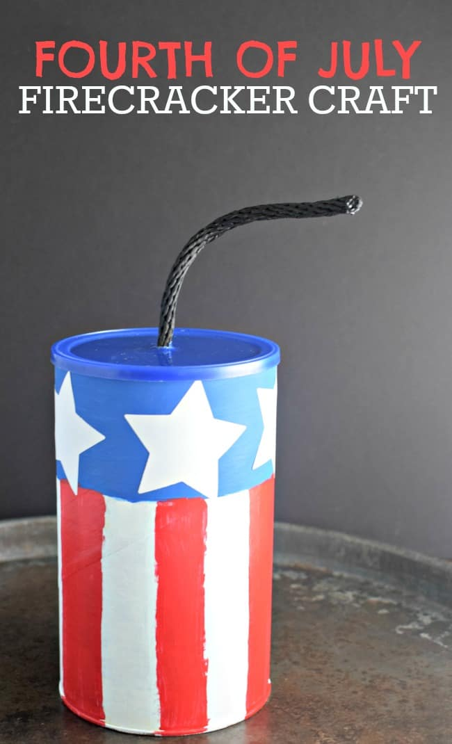 Craft up something fun this summer with this super simple and really cute 4th of July Firecracker Craft.