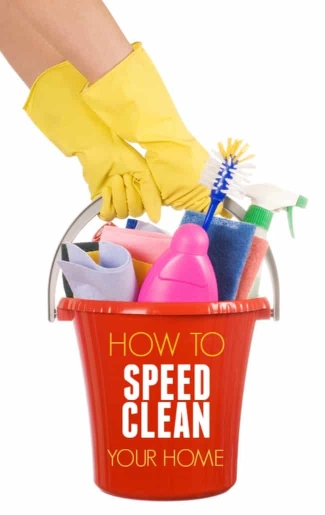 What to do when your family or friends are coming and you have 30 minutes to throw together a half-way looking decent clean house. You follow these tips on how to speed clean your home of course.