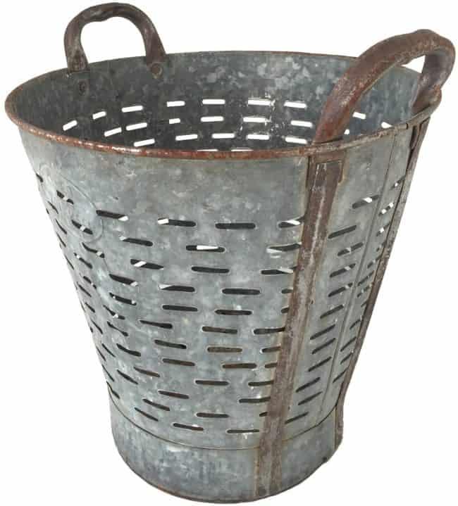Found Vintage Olive Basket