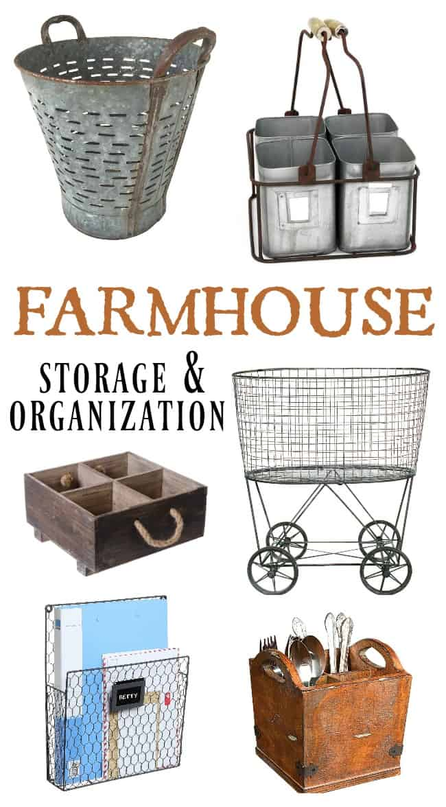 Browse this wide selection of Farmhouse Storage and Organization ideas perfect for your rustic and vintage farmhouse home.