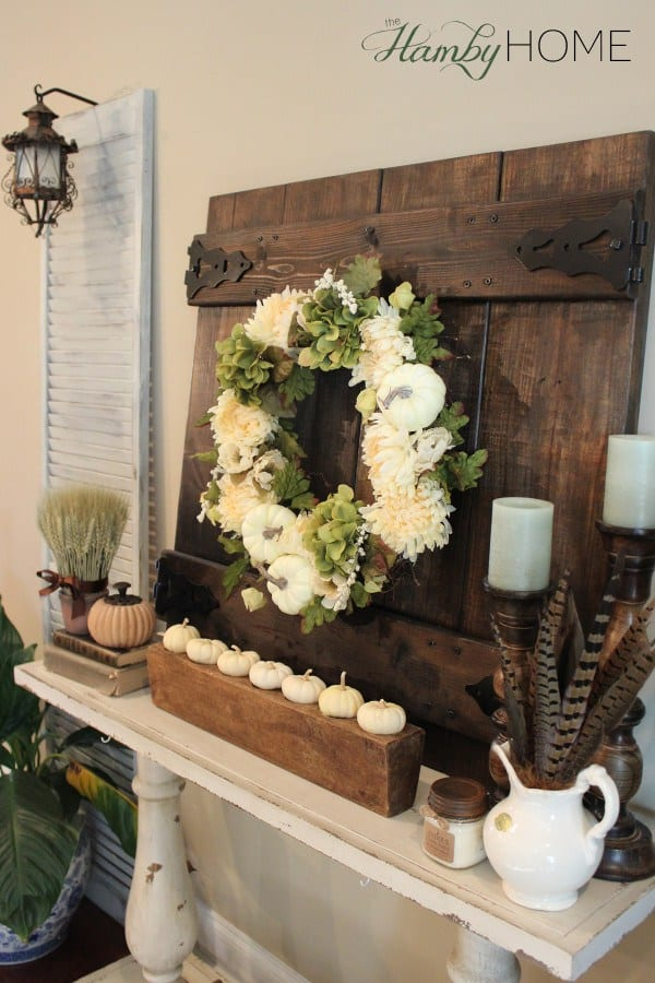Fall Wreath with white pumpkins