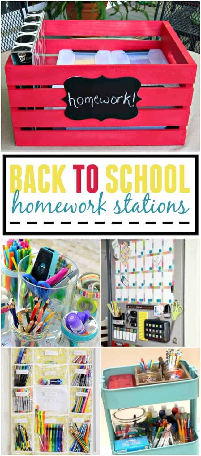 If you are heading back to school, whether your a parent of a kid or in college yourself these homework stations are a great way to motivate you to work.