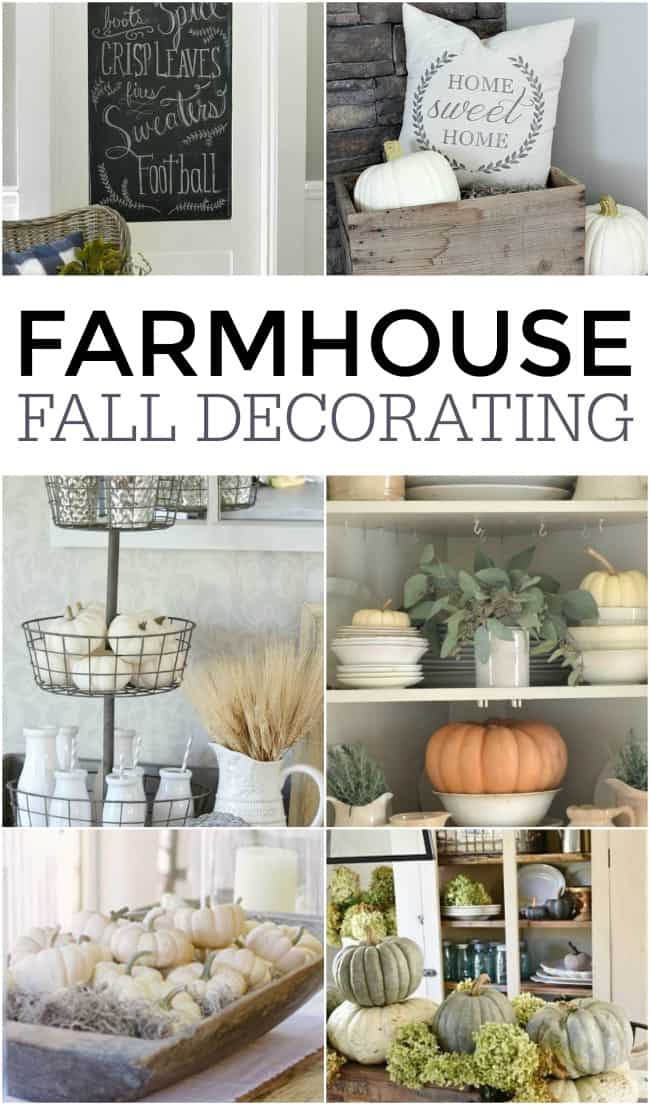Join us in decorating for fall! Give your home some country charm this fall with this super cute farmhouse fall decor ideas and inspiration.