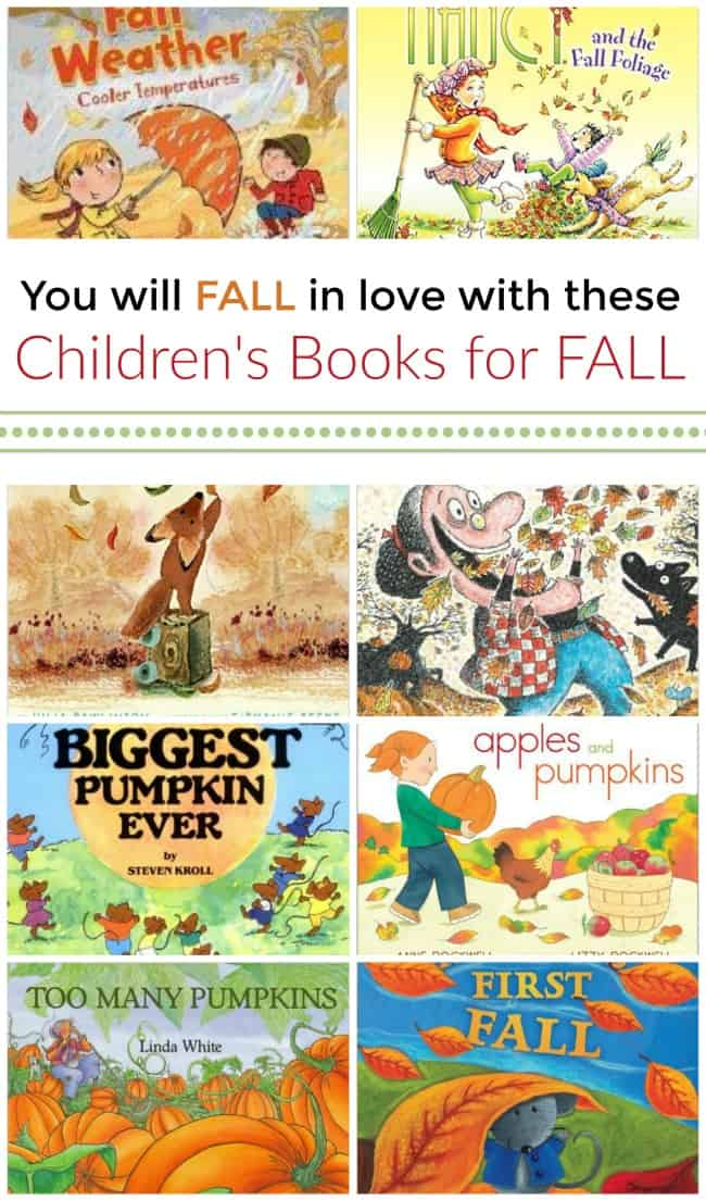 You will fall in love with these children's books for fall. A fun and exciting time of year to learn all about pumpkins, apples, and more.