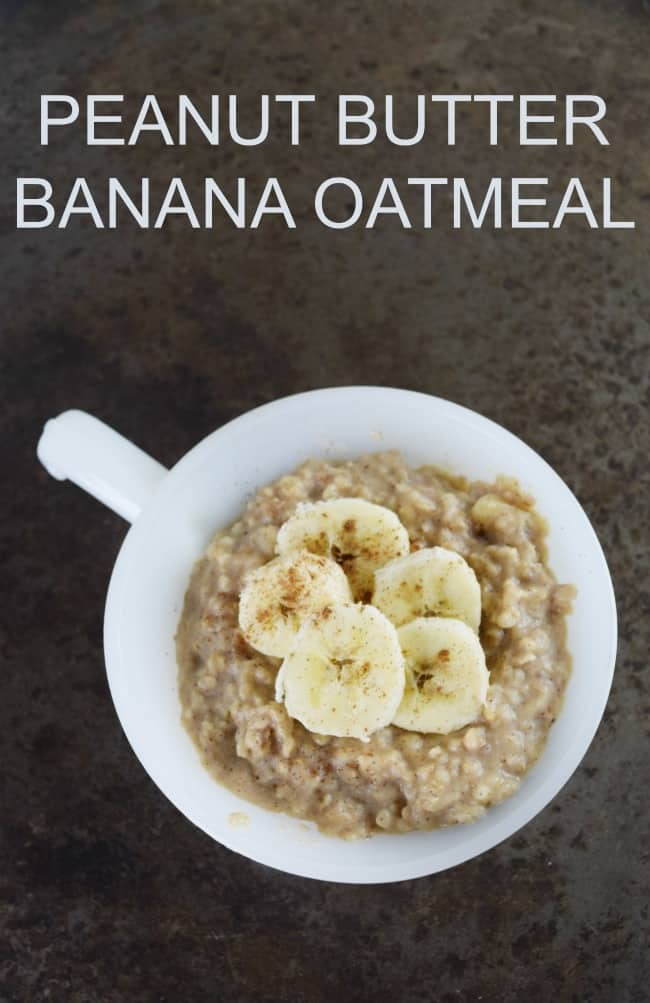 This Peanut Butter Banana Oatmeal is the perfect fast breakfast for the whole family to enjoy. Great for cooking up on holiday mornings.