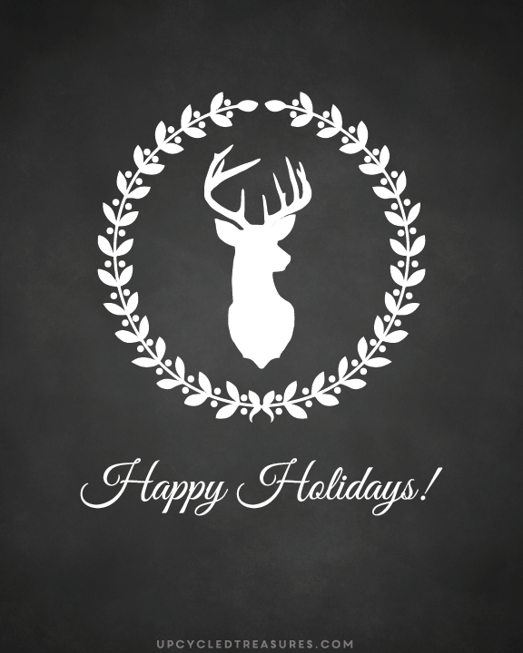 reindeer-happy-holidays-printable