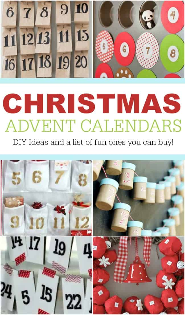 This photo features various DIY Ideas for Christmas Countdown Calendars
