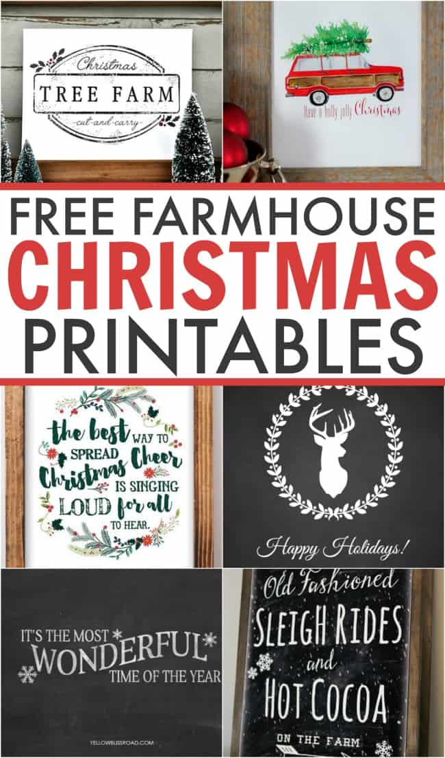 free farmhouse christmas printables 6 gorgeous designs