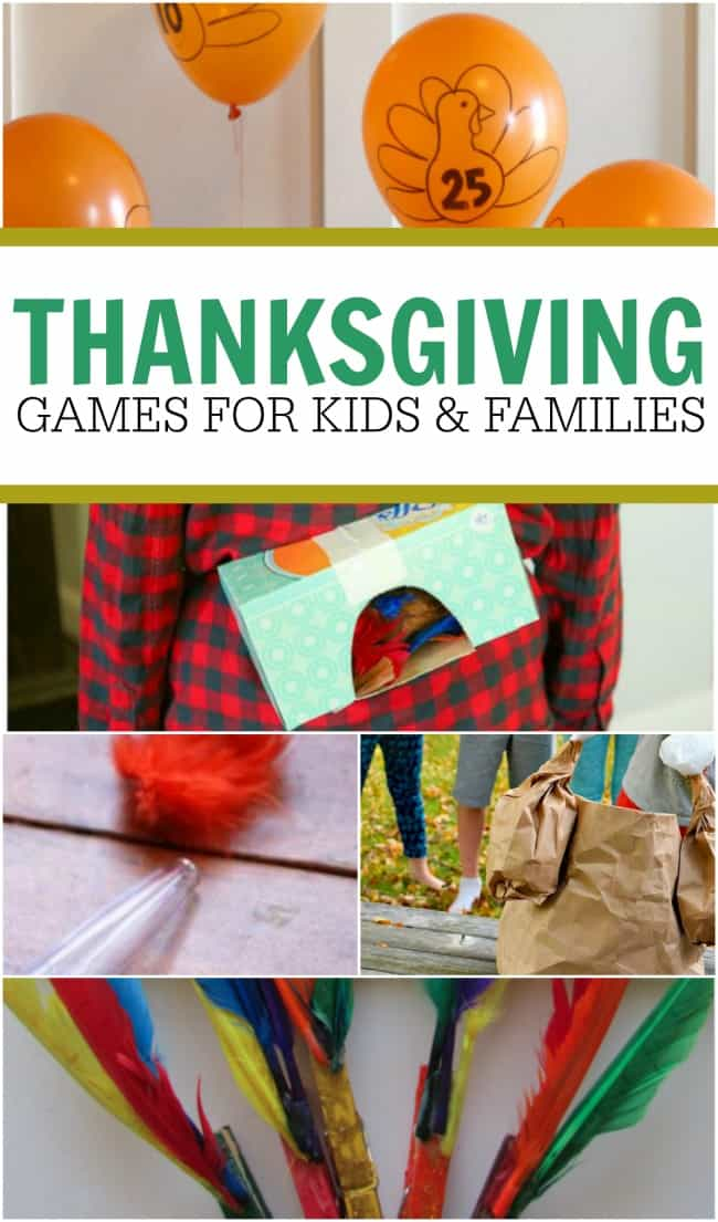 Thanksgiving games for kids and the whole family