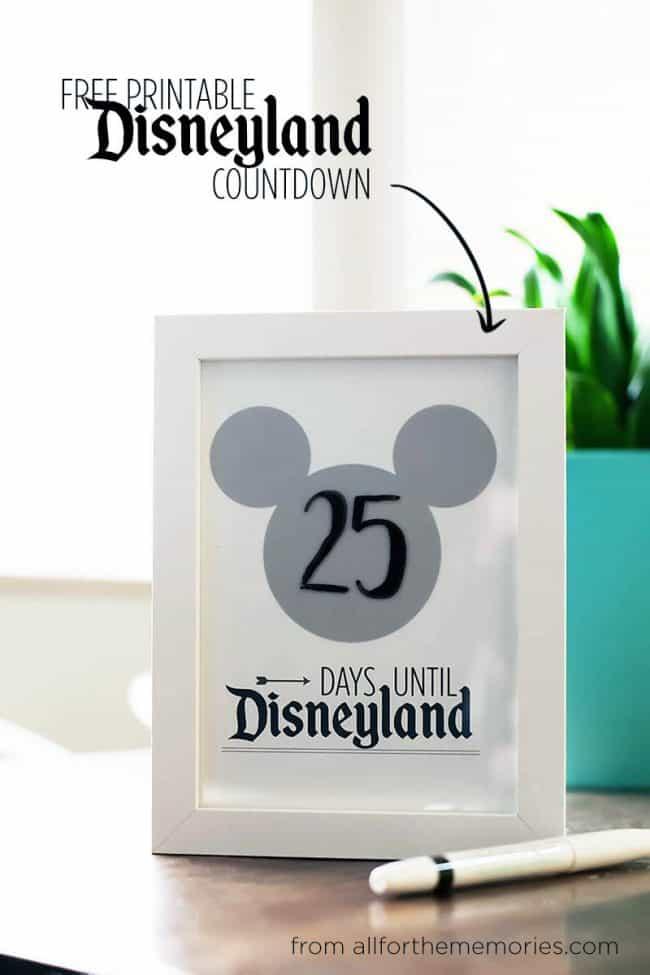 Fun Ways To Countdown To Disney