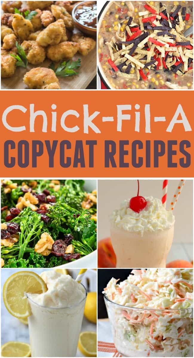 Want some Chick-fil-A nuggets or a frosted lemonade right at home? These Chick-Fil-A copycat recipes are delicious and simple to make.