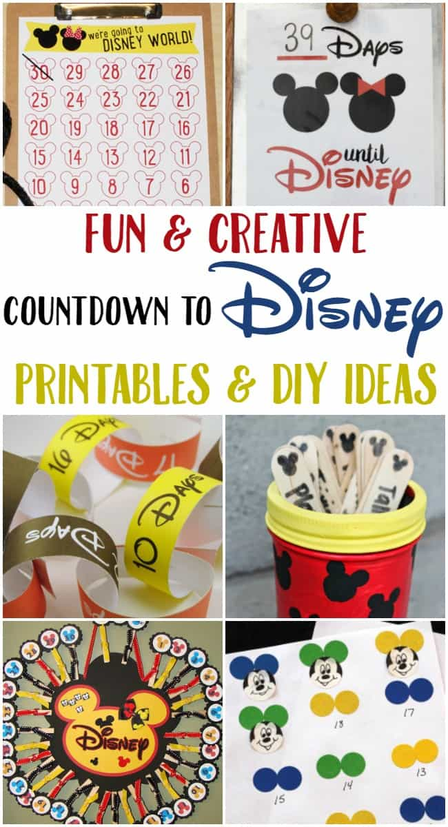 If you are looking for fun ways to countdown to Disney then you should check out all of these awesome ideas. From free printables to simple DIY creations.