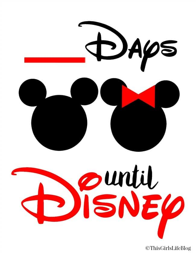 graphic regarding Disney Countdown Printable referred to as No cost Countdown in direction of Disney Printable