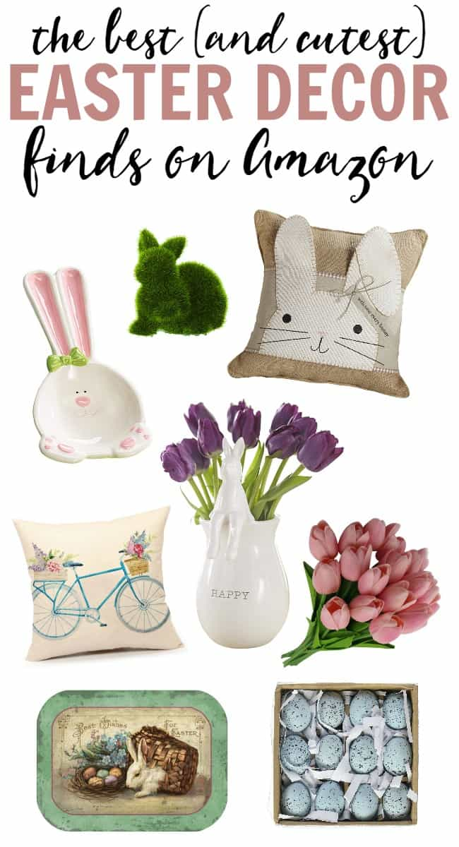 Looking for some fun Easter touches to add to your home decor? Amazon has some of the cutest items in stock right now. Check out all of these fun finds.