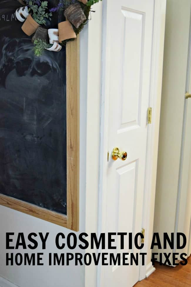 Don't have the budget for a full renovation? How about transforming your home with these easy cosmetic and home improvement fixes.