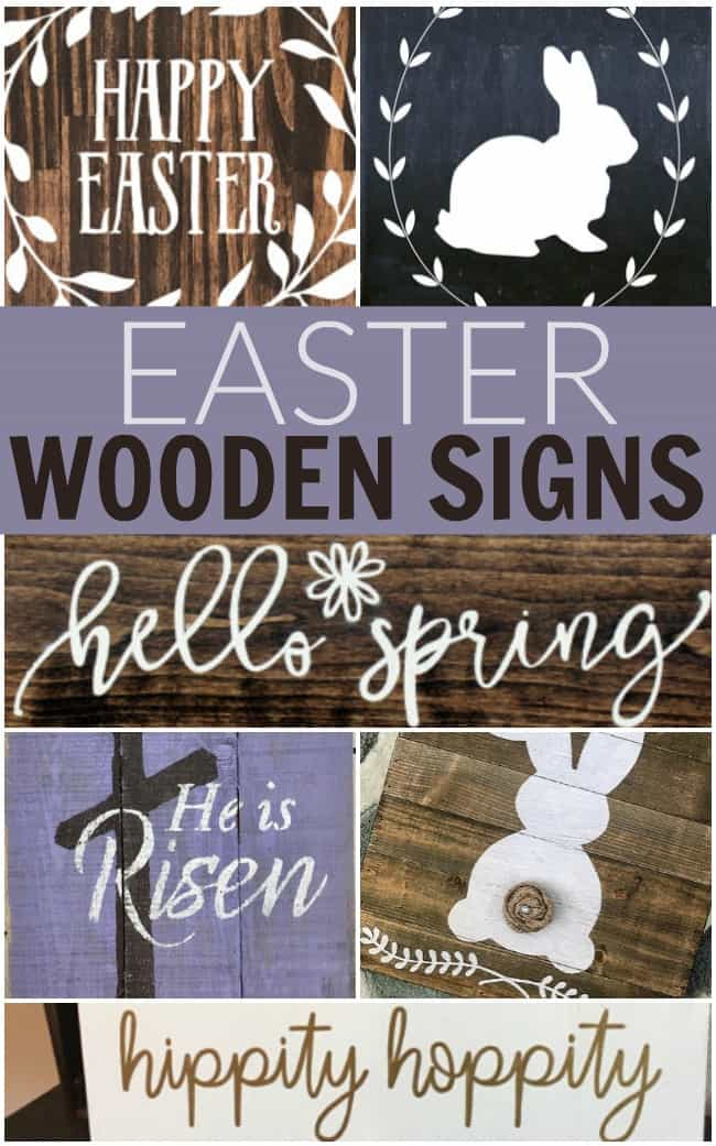 Looking for some super cute Easter home decor? How about adding a fun touch with one of these Easter wooden signs from faith to bunnies. #Easter #EasterWoodenSign #WoodenSigns #homedecor