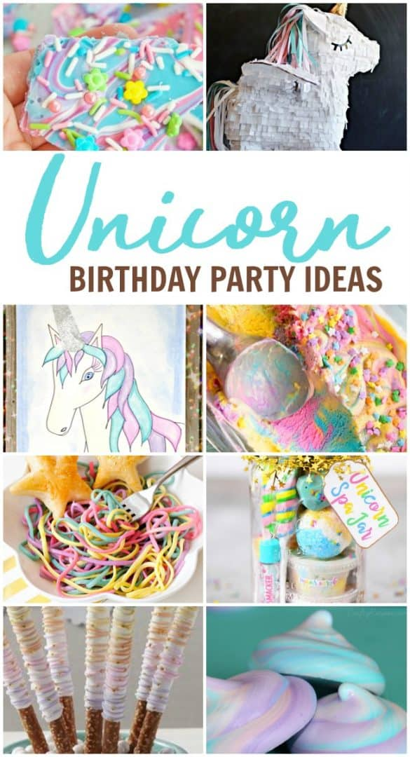 Throw the ultimate Unicorn birthday party with these awesome themed birthday party supplies. These rainbow decorations are colorful and charming.