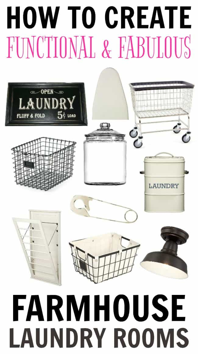 Looking to makeover your dull and boring laundry room? Check out these ideas to create farmhouse laundry rooms that are functional and fabulous.