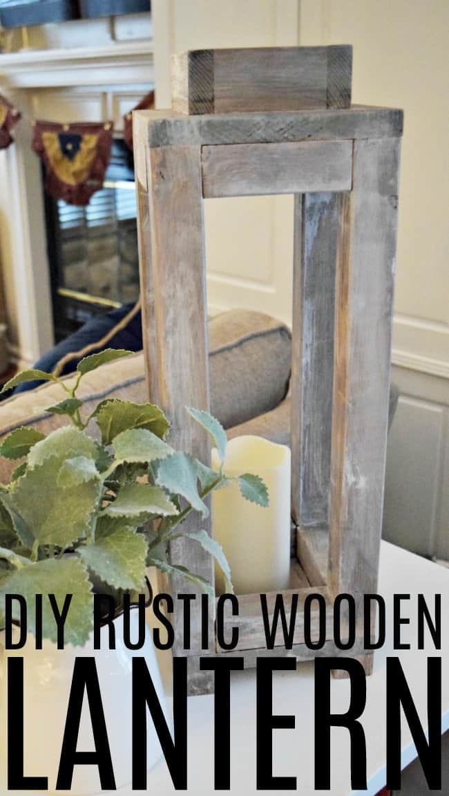 Create this simple and inexpensive rustic wooden lantern that is perfect for a fun indoor or covered outdoor home decor piece.
