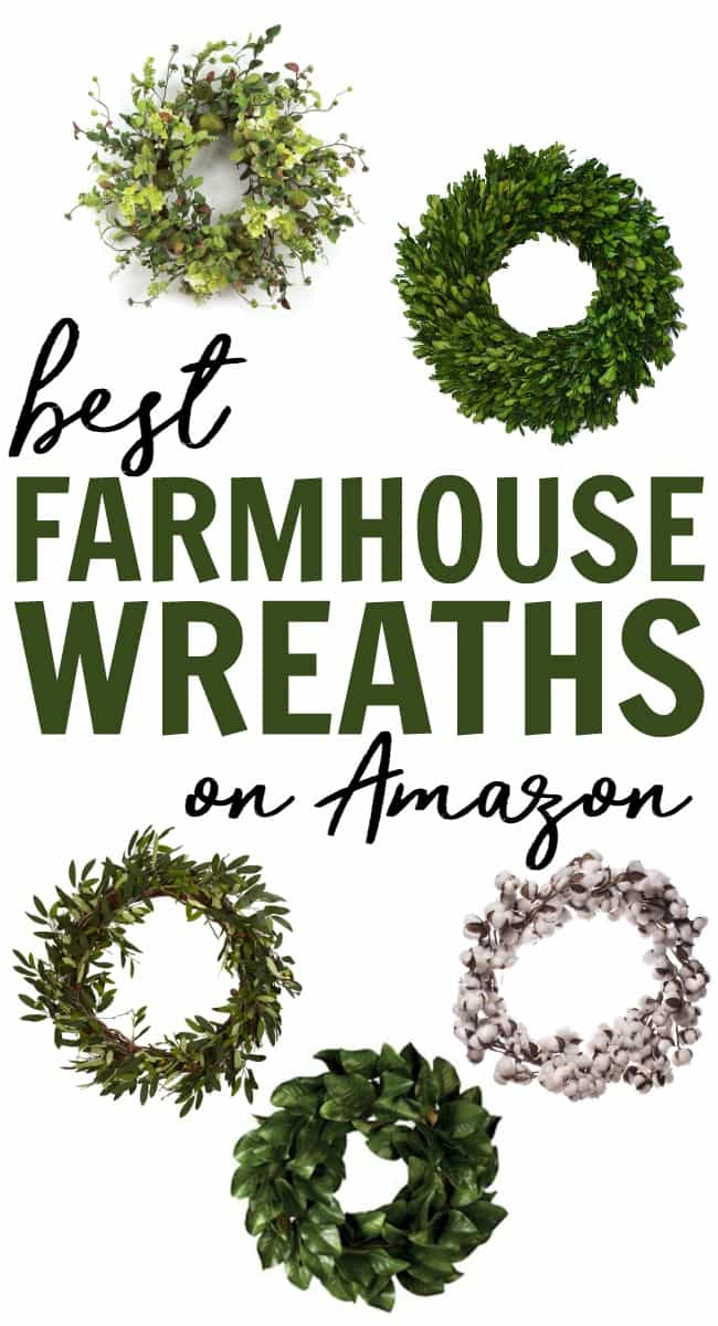 Looking for a wreath to go with all of your farmhouse style decor? Check out these best Farmhouse Wreaths all easily shoppable on Amazon.