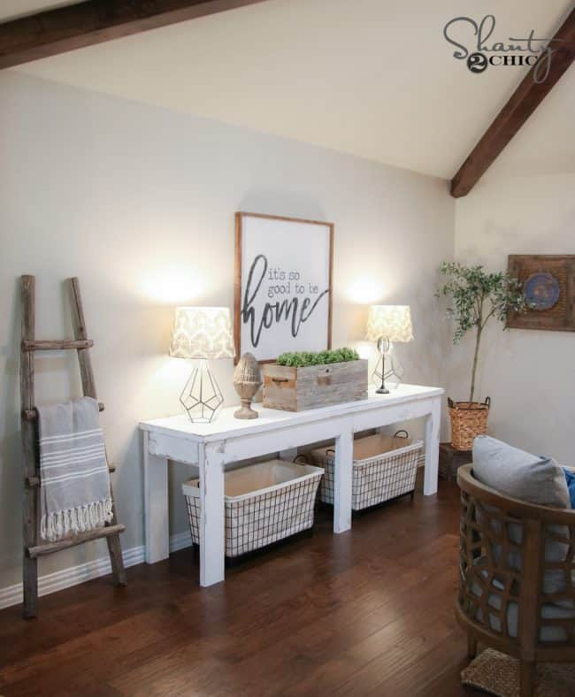 DIY Console Table / Sofa Table Ideas and Designs