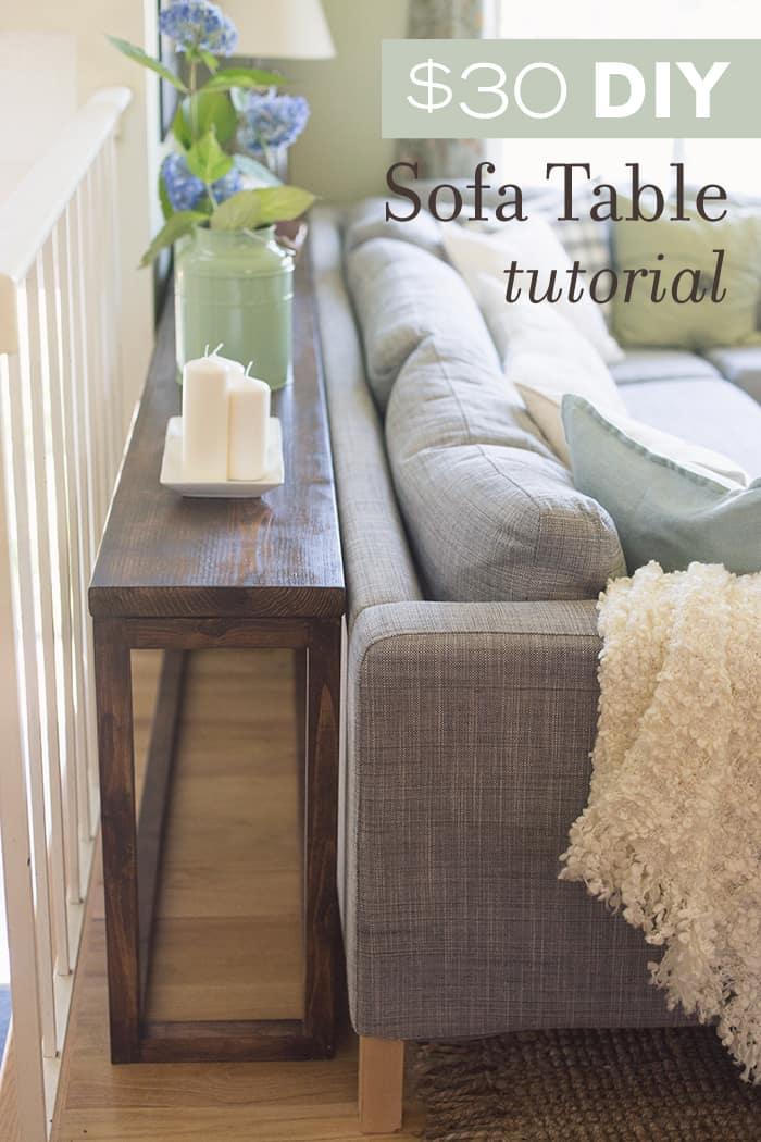Diy console table sofa table ideas and designs for X sofa table diy