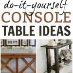 If you have been looking for a DIY console table idea then check out these amazing ones rounded up here. All fairly simple for the beginning builder.