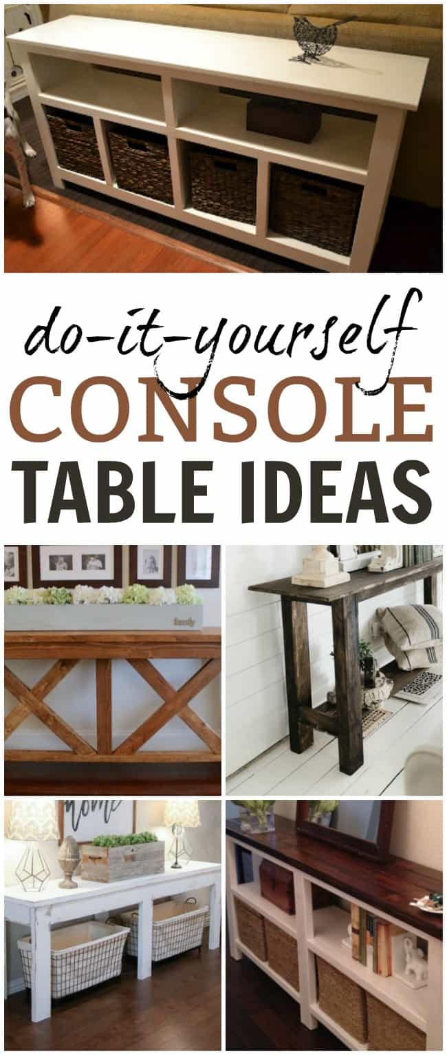 Diy Console Table Sofa Ideas