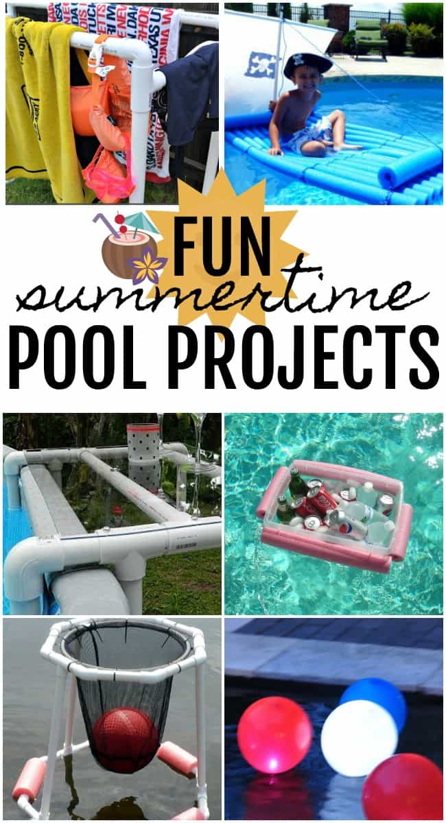 If you have a pool and are looking for some quick and easy summer projects this weekend then check out these awesome, fun pool projects.