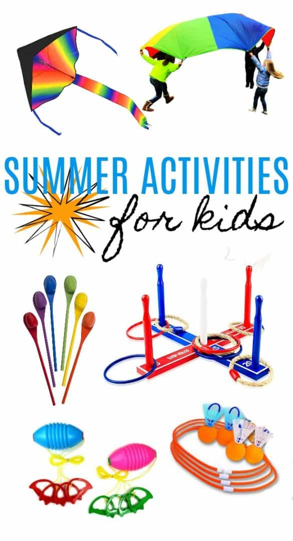 Looking for some great kids summer activities to keep your kids active and off the technology this summer? Check out all of these great ideas!