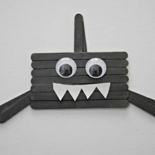 Popsicle Stick Shark Craft