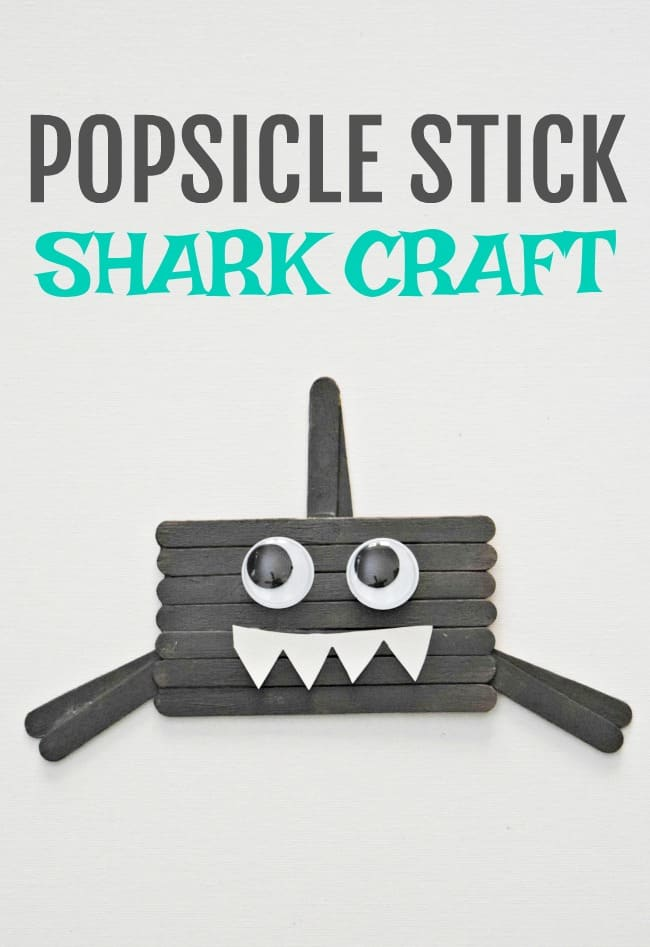 Don't get scared, he doesn't bite! This popsicle stick shark craft is a cutey and perfect for little hands to celebrate shark week.